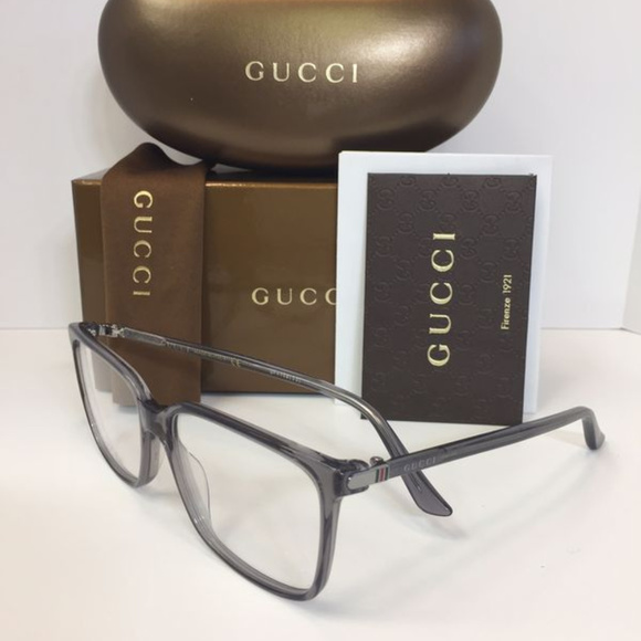 4e602178a7134 Gucci GG0019O 003 Gray plastic Eyeglasses 56mm